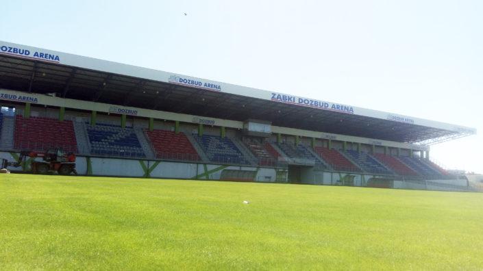 Obrandowanie stadionu w ząbkach